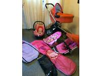 Quinny buzz 3 pushchair/pram complete travel set & accessories Excellent condition.