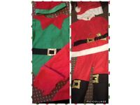Santa and elf child's outfit