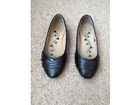 Girls black slip on school shoes size 13