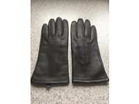 Marks & Spencer Dark Brown Leather Gloves (Small/Medium)
