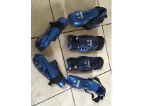 Warrior macho sparring gloves, shin pads and boots