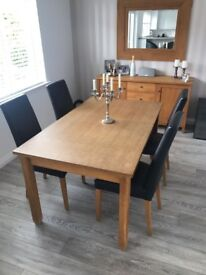 Full Dining Set, Table 4 Chairs Sideboard & Mirror for Sale £500