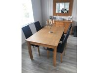 Full Dining Set Table 4 Chairs Sideboard Mirror For Sale 500