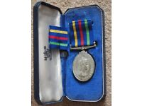 Civil Defence Long Service Medal and Ribbon