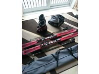 Atomic Nomad 169cm skis with poles, Nordica size 8 boots and bags