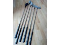 6 assorted golf clubs, very good condition, £15.00