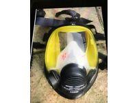 Asbestos full face mask vision 2