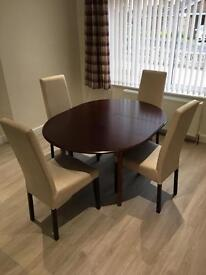Mahogany Extending Dining Table & Chairs