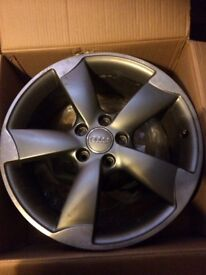 """X3 Genuine Audi rotar alloys (alloy only) good condition 18"""" 5 stud."""