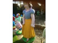 Garden Ornaments Concrete Snow White and Seven dwarfs