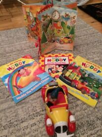 Noddy toy and books - push and go friction car, books and carousel pop up book