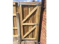 Wooden gate side gate garden gate