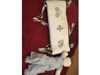 Cot Bumper and Doll Nappy Storage