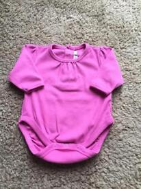 💕 JoJo Maman Bebe 💕 baby girl long sleeve vest / bodysuit 0-3 months