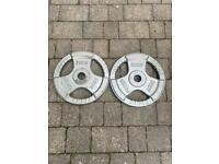 40kg bodypower cast iron tri grip olympic weights