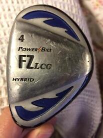 Powerbilt left handed hybrid club