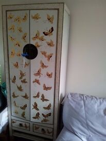 a pair of new Chinese butterfly cabinets