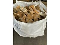 Ton bags of pallets wood for fire pits