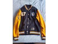 NHL Pittsburgh Penguins Cotland Fleece Letterman Jacket