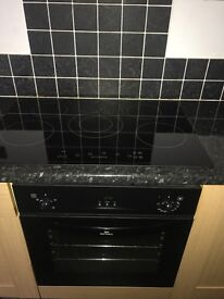 ceramic hob with intergrated oven,selling due to new kitchen