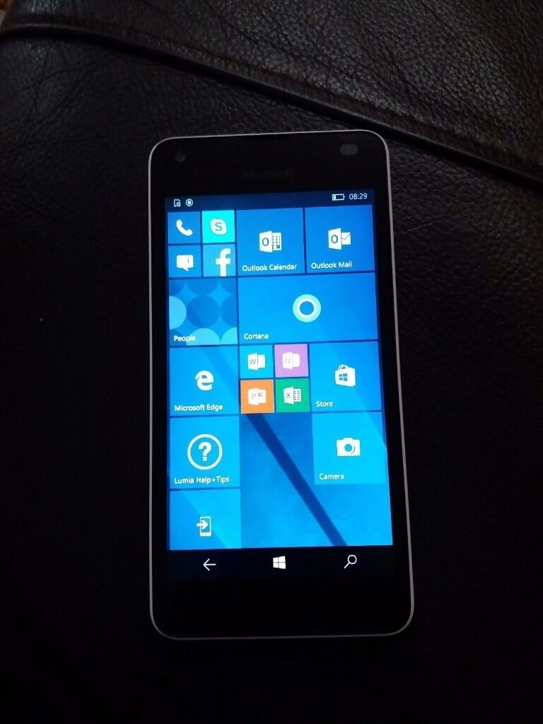 Microsoft Lumia 550 WhiteUnlocked Windows Smartphonein Melton Mowbray, LeicestershireGumtree - Microsoft Lumia 550 Unlocked in great condition Technical Details Network 2G Network GSM Quad band (850/900/1800/1900) 3G Network HSDPA Tri band (850/900/2100) 4G Network LTE Display 4.7 inch, 720 x 1280 pixels, Capacitive touchscreen, 16M colors...
