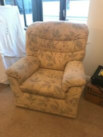 Two seater Sofa and Armchair (G-Plan) Retailed at £2k+