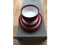 Red & White M&S Dinner set
