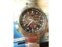 Citizen eco drive chronograph watch mens original strap fully working