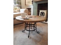 WonkyDonk coffee table upcycled from cable reel