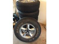 Alloy wheels x 5 and AT tyres