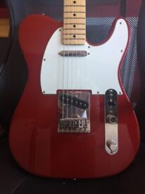 Fender Telecaster Mexican Candy Red BARELY USED!