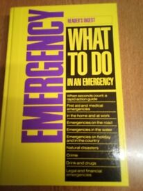What To Do In An Emergency - Readers Digest Book