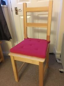 4x ikea dining chairs plus seat covers