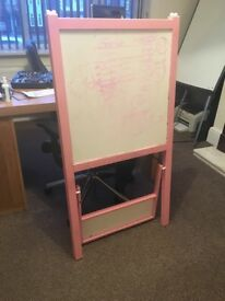 Pink children's easel - good condition