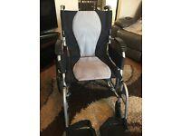 Self propel wheelchair with brakes, ultra lightweight folding, Karma ergo lite 2