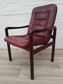 Dyrlund Danish Leather Armchair (DELIVERY AVAILABLE FOR THIS ITEM OF FURNITURE)