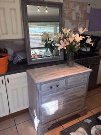 Shabby Sheek Dresser with Bevelled Mirror