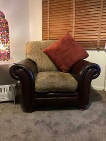 Chesterfield deep highback style armchair