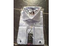 Mens luxury checked shirt