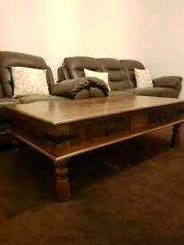 Indian wood solid coffee table