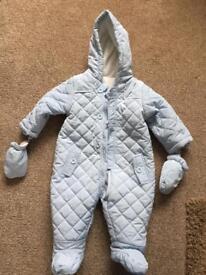 6 -9 month's blue snowsuit