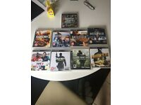Ps3 ultra slim plus 9 games and 1 controller