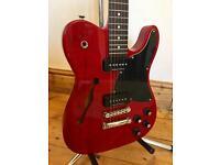 Fender Thinline JA-90 'Jim Adkins' Signature Telecaster Guitar - Translucent Crimson Red