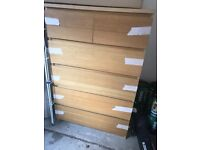 Oak colour chest of drawers