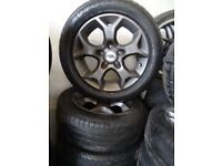 4 sets of TRANSIT CONNECT ALLOYS MINT COND 4 NEW 205 55 16 TYRES ALL ROUND FIT ANY 5 STUD FORD