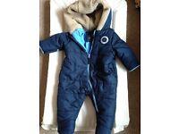 6-9 month weatherproof designer snow suit