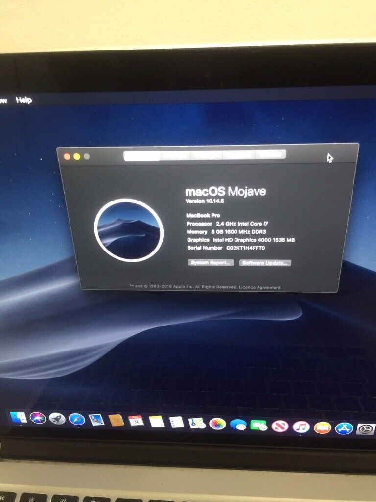 MacBook Pro Retina 15 INCH i7 latest version 10 14 macOs Mojave Supper Fast  Machine Coming Charger    in Westminster, London   Gumtree