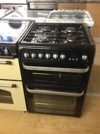 Black Hotpoint 60cm gas cooker (dual fuel)