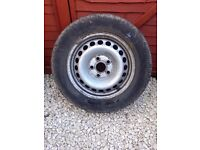 set of 16'' VW T5 steel wheels and tyres