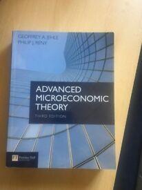 Advanced Microeconomic Theory, Geoffrey A Jehle, Philip J Reny